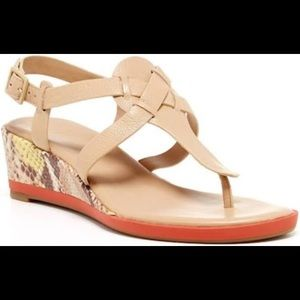 Cole Haan brand new tan leather sandals